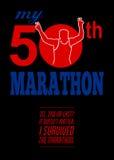 50η αφίσα φυλών μαραθωνίου ελεύθερη απεικόνιση δικαιώματος