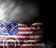 Η αφηρημένη αμερικανική σημαία το υπόβαθρο Στοκ Εικόνα