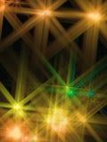 η αφηρημένη ανασκόπηση έλαμψε αστέρι κίτρινο απεικόνιση αποθεμάτων