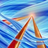 Αφηρημένη απεικόνιση υποβάθρου τεχνολογίας μπλε Στοκ Φωτογραφίες