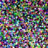 Η αφηρημένη κλίση κεράμωσε το υπόβαθρο σχεδίων τριγώνων - γραφικό σχέδιο μωσαϊκών με τα ζωηρόχρωμα κανονικά τρίγωνα Στοκ Εικόνες