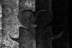 Η αφηρημένη μονοχρωματική εικόνα θαμπάδων απεικόνισης του γραπτού υποβάθρου σχεδίων φύλλων ψευδάργυρου, μοιάζει με το πρόσωπο και στοκ εικόνες