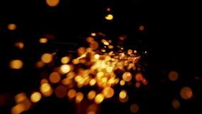 Η αφηρημένη μορφή των sparklets ραντίσματος πέφτει κάτω απόθεμα βίντεο