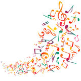 Η αφηρημένη μουσική σημειώνει το υπόβαθρο, διάνυσμα Στοκ Φωτογραφία
