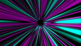 Η αφηρημένη μυστήρια σήραγγα ακτίνων, που κινείται στο διάστημα και το χρόνο, διαστρέβλωση διαστημικού, τρισδιάστατη δίνει διανυσματική απεικόνιση
