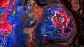 Η αφηρημένη ομορφιά του χρώματος μελανιού τέχνης εκρήγνυται τη ζωηρόχρωμη φαντασία που διαδίδεται απόθεμα βίντεο