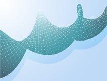 Η αφηρημένη πράσινη συστροφή αεροπλάνων συνδέει τα σημεία στο μπλε απεικόνιση αποθεμάτων