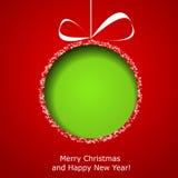 Η αφηρημένη πράσινη σφαίρα Χριστουγέννων από το έγγραφο απεικόνιση αποθεμάτων