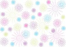 Η αφηρημένη Πόλκα διαστίζει το υπόβαθρο λουλουδιών διανυσματική απεικόνιση