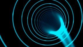 Η αφηρημένη στρέβλωση σηράγγων ταχύτητας, που κινείται στο διάστημα και το χρόνο, διαστρέβλωση του διαστήματος, που ταξιδεύουν σε απεικόνιση αποθεμάτων