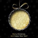 Η αφηρημένη χρυσή σφαίρα Χριστουγέννων από το έγγραφο ελεύθερη απεικόνιση δικαιώματος