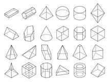 Η αφηρημένη isometric τρισδιάστατη γεωμετρική περίληψη διαμορφώνει το διανυσματικό σύνολο διανυσματική απεικόνιση