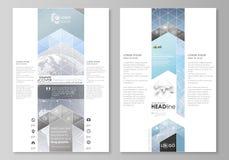 Η αφηρημένη minimalistic διανυσματική απεικόνιση του editable σχεδιαγράμματος σχεδίου προτύπων δύο του σύγχρονου σελίδων blog γρα Στοκ Εικόνες