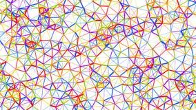 Η αφηρημένη Polygonal Fractal δομή, τρισδιάστατη δίνει Στοκ Εικόνες