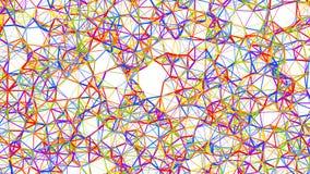 Η αφηρημένη Polygonal Fractal δομή, τρισδιάστατη δίνει Στοκ Φωτογραφίες