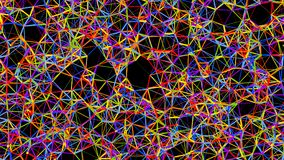 Η αφηρημένη Polygonal Fractal δομή, τρισδιάστατη δίνει Στοκ φωτογραφία με δικαίωμα ελεύθερης χρήσης