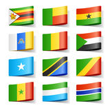 η Αφρική σημαιοστολίζει τον κόσμο ελεύθερη απεικόνιση δικαιώματος