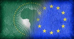 Η αφρικανική ένωση και η ΕΕ Στοκ φωτογραφίες με δικαίωμα ελεύθερης χρήσης