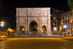 Η αψίδα του Constantine στη Ρώμη στοκ φωτογραφία
