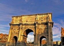 Η αψίδα του Constantine ο μεγάλος στη Ρώμη Στοκ φωτογραφία με δικαίωμα ελεύθερης χρήσης
