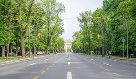 Η αψίδα Triumph Arcul de Triumf από το Βουκουρέστι Ρουμανία Στοκ φωτογραφία με δικαίωμα ελεύθερης χρήσης