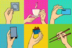 Η λαϊκή τέχνη δίνει τη διανυσματική απεικόνιση Στοκ Εικόνες