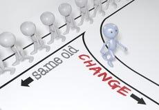 Η αλλαγή επιλογής προσώπων πηγαίνει νέα πορεία ελεύθερη απεικόνιση δικαιώματος