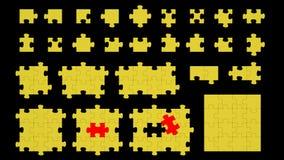 η αλλαγή χρωματίζει τον εύκολο eps8 γρίφο κομματιών επαναταξινομώντας το διάνυσμα Στοκ Φωτογραφίες