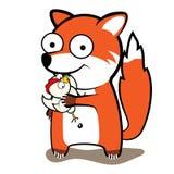 Η αλεπού έκλεψε το κοτόπουλο ελεύθερη απεικόνιση δικαιώματος