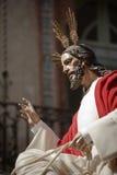 Η αδελφοσύνη της εισόδου μέσα σε την Ιερουσαλήμ, αποκαλούμενη επίσης «borriquilla» Στοκ Εικόνες