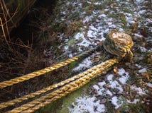 Η αλυσίδα που κτυπά τη βάρκα Στοκ Φωτογραφία