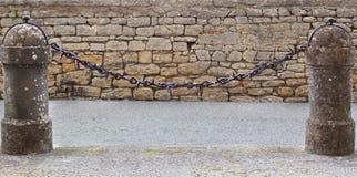 Η αλυσίδα στη στήλη Στοκ Εικόνα