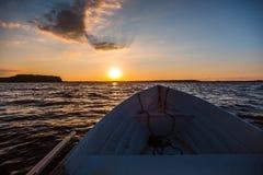 Η βάρκα στη λίμνη Στοκ εικόνα με δικαίωμα ελεύθερης χρήσης