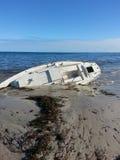 Η βάρκα Yatch καταστρεμμένος Στοκ Εικόνες