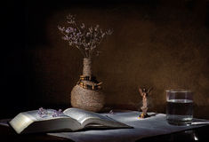 Η Βίβλος σε έναν πίνακα Στοκ εικόνες με δικαίωμα ελεύθερης χρήσης