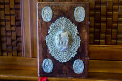 Η Βίβλος στο βωμό του μοναστηριού Στοκ Φωτογραφίες