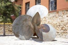 Η βίδα κωπηλασίας σε Hanya, το νησί της Κρήτης, Ελλάδα Στοκ εικόνα με δικαίωμα ελεύθερης χρήσης