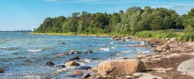 η βαλτική παραλία καλύπτει τη θάλασσα άμμου αντανάκλασης palanga ακτών υγρή Εσθονία, ΕΕ Στοκ φωτογραφία με δικαίωμα ελεύθερης χρήσης