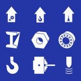 η βαριά βιομηχανία pictogrammes έθεσε διανυσματικός απεικόνιση αποθεμάτων