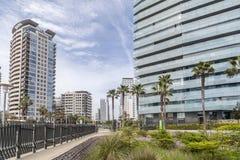 Η Βαρκελώνη, σύγχρονη διαγώνιος αρχιτεκτονικής χαλά την περιοχή Στοκ εικόνες με δικαίωμα ελεύθερης χρήσης