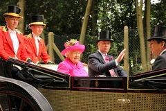 Η βασίλισσα σε Ascot Στοκ Εικόνα