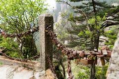 Η βασική κλειδαριά εραστών στο κίτρινο βουνό βουνών Huangshan, Anhui, Κίνα Στοκ Φωτογραφία
