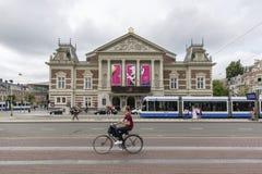 Η βασιλική αίθουσα συναυλιών Concertgebouw στο Άμστερνταμ, Κάτω Χώρες στοκ φωτογραφία με δικαίωμα ελεύθερης χρήσης