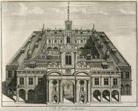 Η βασιλική ανταλλαγή του Λονδίνου 1671 Αγγλία Στοκ εικόνα με δικαίωμα ελεύθερης χρήσης