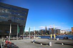 Η βασιλική βιβλιοθήκη της Κοπεγχάγης στην Κοπεγχάγη, Δανία Στοκ Φωτογραφίες