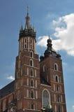 Η βασιλική της Virgin Mary στην Κρακοβία - την Πολωνία Στοκ Εικόνα