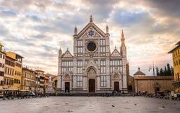 Η βασιλική de Santa Croce στη Φλωρεντία, Ιταλία Στοκ Εικόνες
