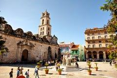 Η βασιλική Menor de Σαν Φρανσίσκο de Asis στην παλαιά Αβάνα Vieja Κούβα Στοκ Εικόνες
