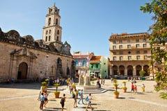 Η βασιλική Menor de Σαν Φρανσίσκο de Asis στην παλαιά Αβάνα Vieja Κούβα Στοκ Φωτογραφίες