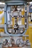 Η βαλβίδα ελέγχου, ο δείκτης για τη θέση οργάνων ελέγχου ή η θέση της βαλβίδας λειτουργούν, βαλβίδα ελέγχου πίεσης ή βαλβίδα ελέγ Στοκ εικόνα με δικαίωμα ελεύθερης χρήσης